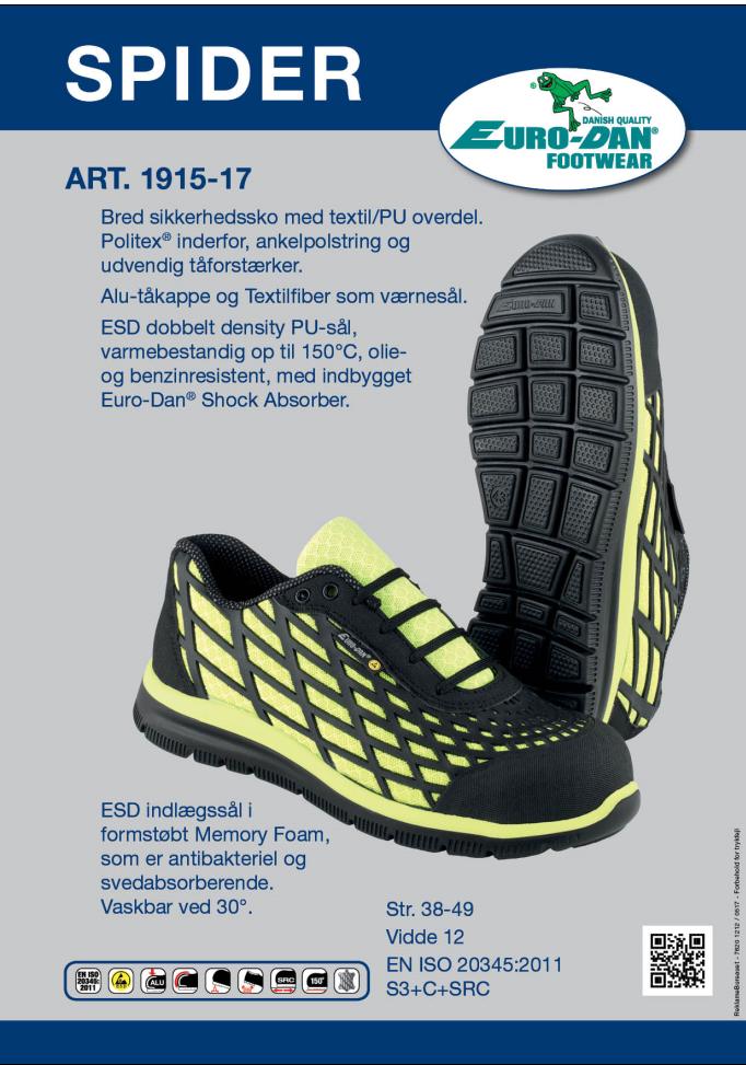 0fd528e83e7 Bred sikkerhedssko med textil/PU overdel, Politex® for, ankelpolstring og  udvendig tåforstærker. Vidde 12